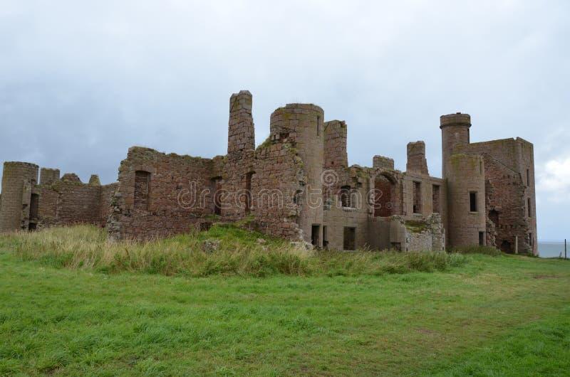 Nieuw Slains-Kasteel, Aberdeenshire, Schotland stock fotografie