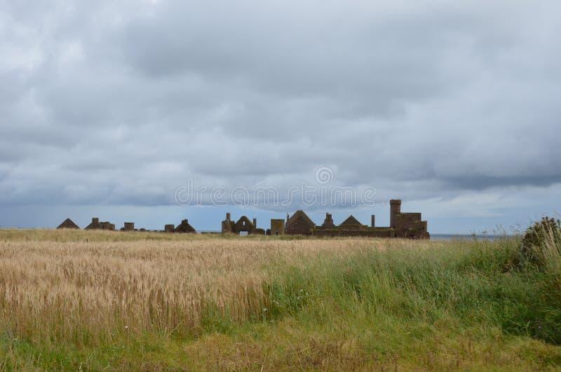 Nieuw Slains-Kasteel, Aberdeenshire, Schotland royalty-vrije stock foto's