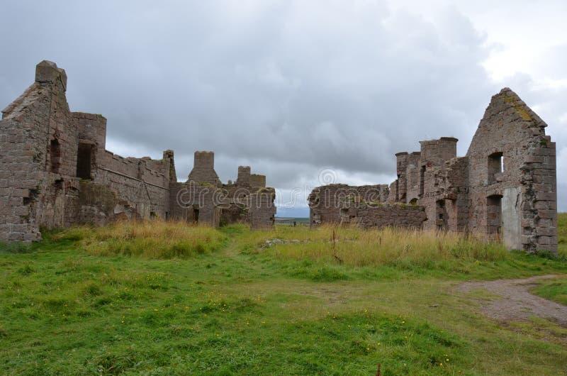 Nieuw Slains-Kasteel, Aberdeenshire, Schotland stock foto's