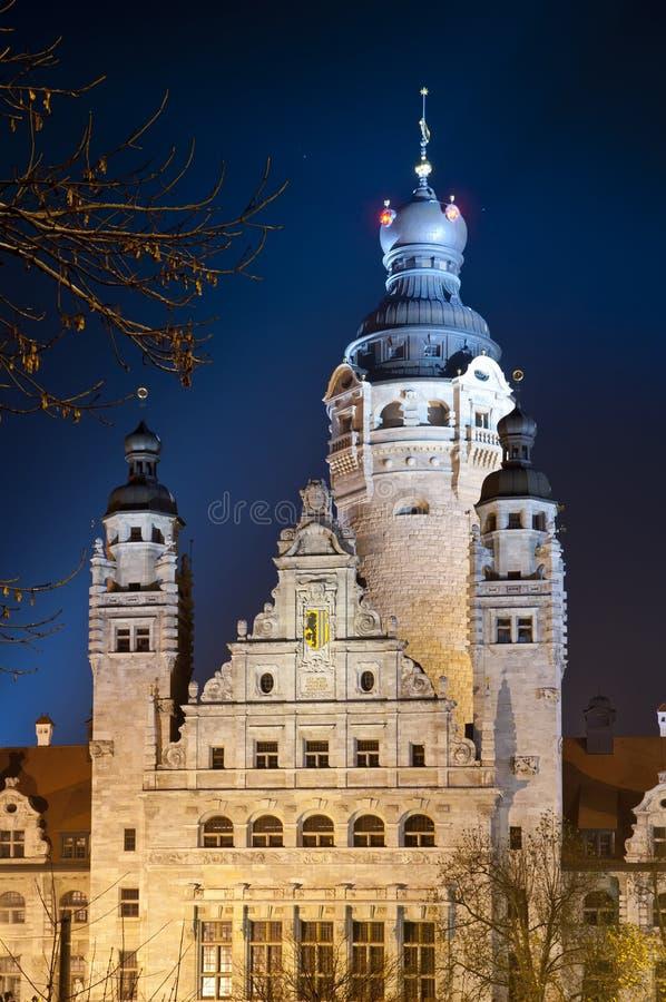 Nieuw stadhuis Leipzig royalty-vrije stock foto