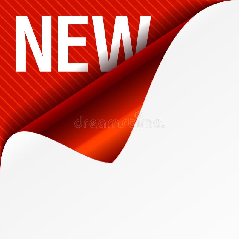 Nieuw teken - gekrulde hoek. Vector. vector illustratie