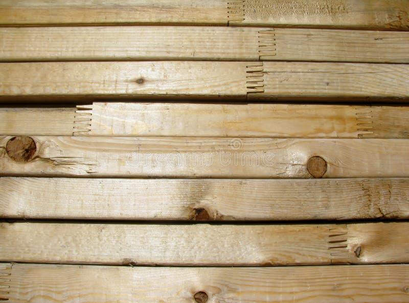Nieuw vinger verbonden timmerhout stock foto's