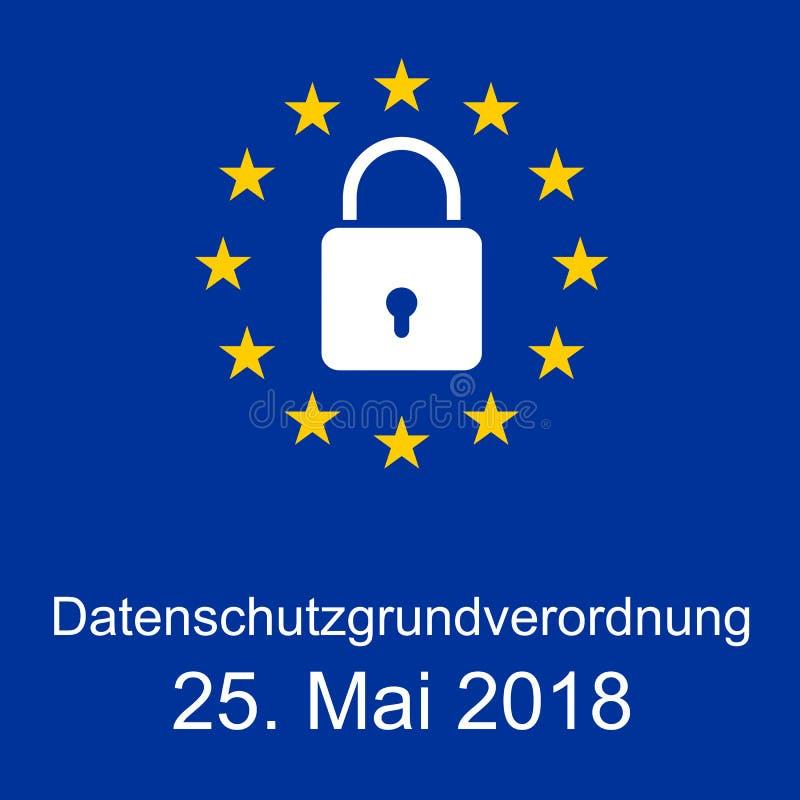 Nieuwe Algemene de Gegevensbeschermingverordening van EUÂ stock afbeelding