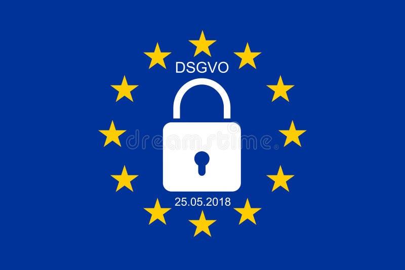 Nieuwe Algemene de Gegevensbeschermingverordening van EUÂ royalty-vrije stock foto's