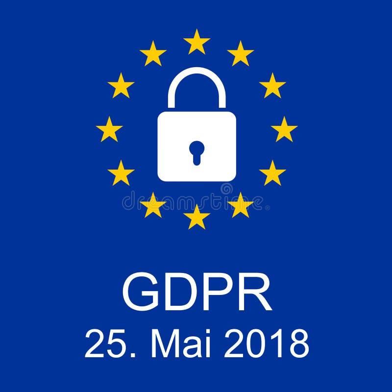 Nieuwe Algemene de Gegevensbeschermingverordening van EUÂ stock foto's