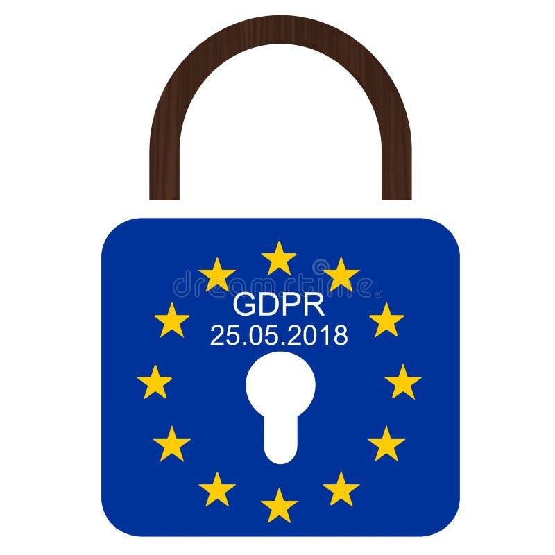 Nieuwe Algemene de Gegevensbeschermingverordening van EUÂ royalty-vrije stock fotografie