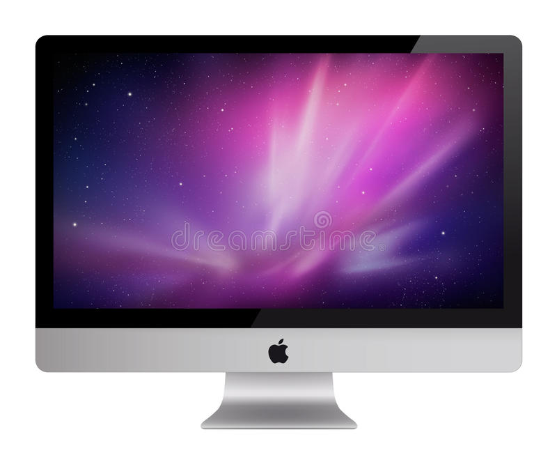 Nieuwe Appel iMac royalty-vrije illustratie