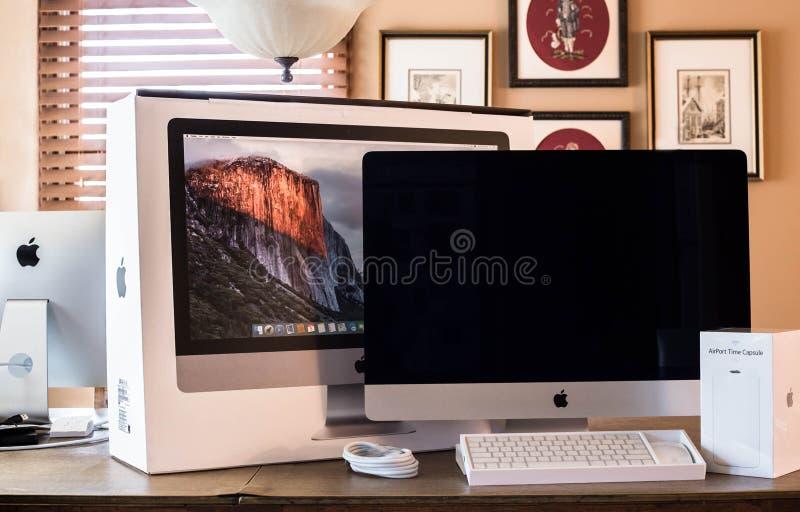 Nieuwe Appel iMac stock afbeelding