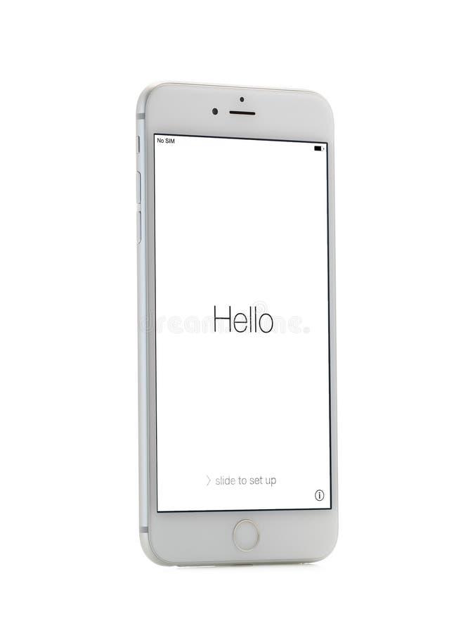 Nieuwe Apple-iPhone 6 plus Front Side stock foto