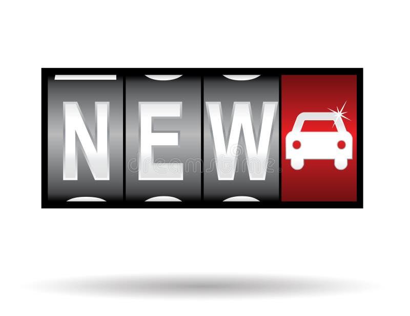 Nieuwe auto stock illustratie