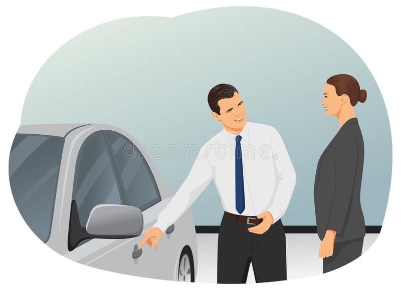 Nieuwe auto vector illustratie