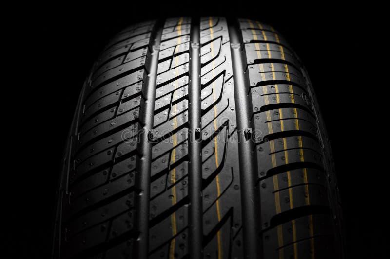 Nieuwe auto het dichte patroon van rubber, detail royalty-vrije stock foto's