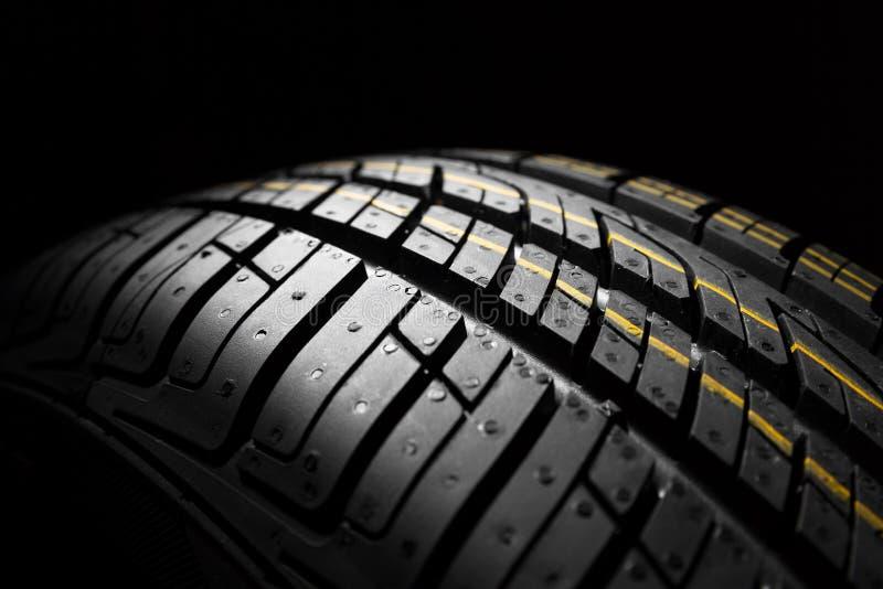 Nieuwe auto het dichte patroon van rubber, detail royalty-vrije stock foto