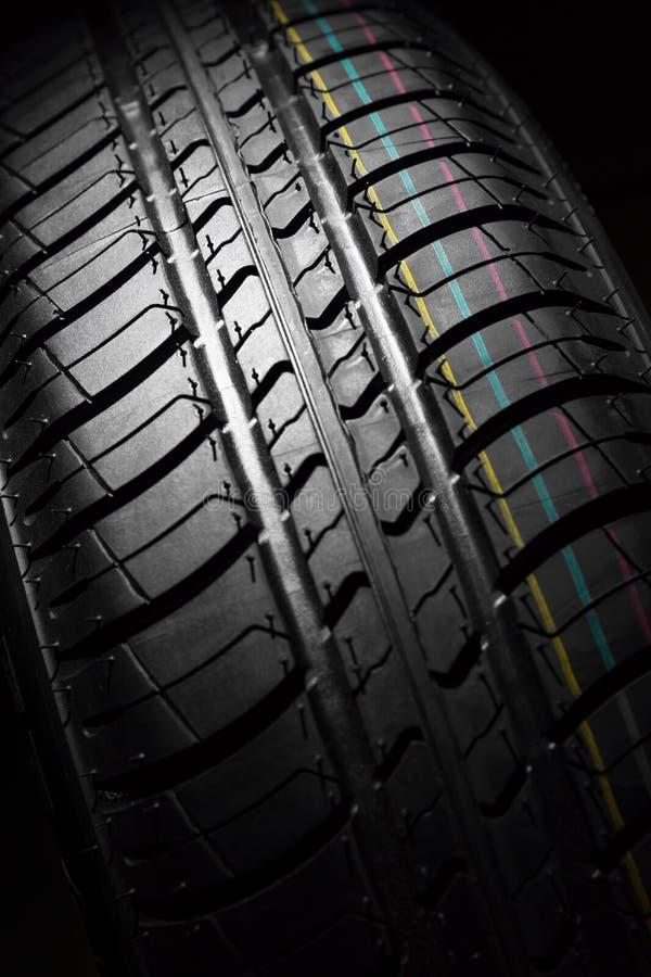 Nieuwe auto het dichte patroon van rubber, detail royalty-vrije stock fotografie