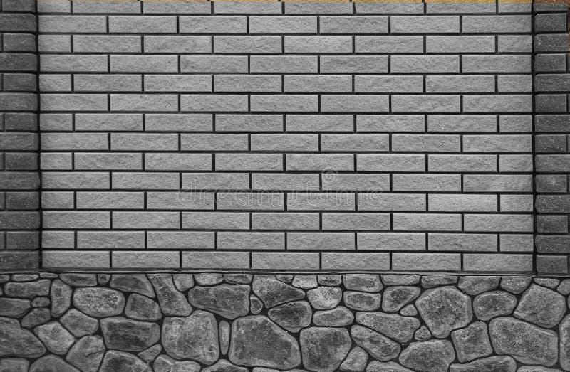 Nieuwe bakstenen muur in een achtergrond stock afbeeldingen