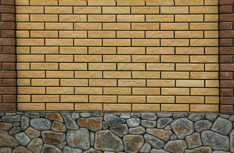 Nieuwe bakstenen muur in een achtergrond royalty-vrije stock afbeeldingen