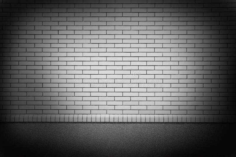 Nieuwe bakstenen muur in een achtergrond stock fotografie