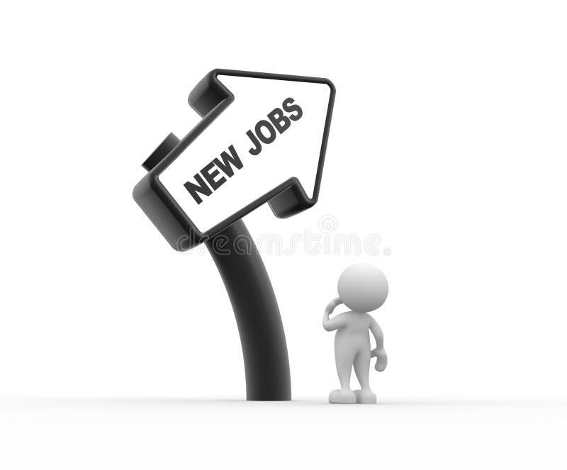 Nieuwe banen royalty-vrije illustratie