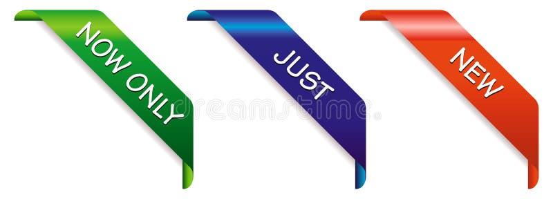 Nieuwe banners vector illustratie