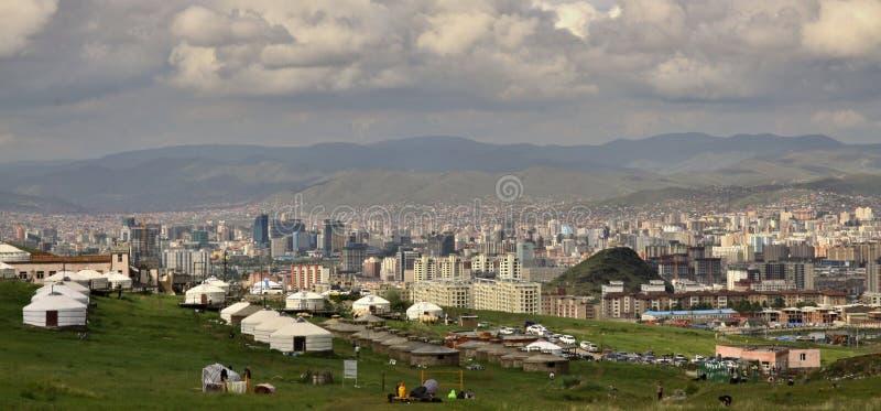 Nieuwe bouw van gebouwen, Ulaanbaatar, Mongolië stock afbeeldingen