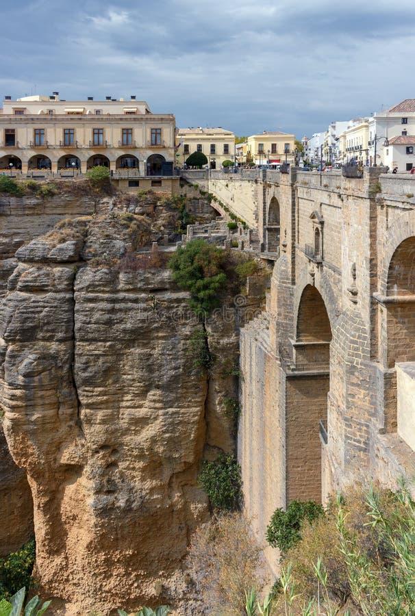 Nieuwe brug in Ronda stock fotografie