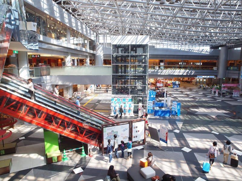 Nieuwe Chitose Luchthaven, Hokkaido, Japan stock afbeeldingen