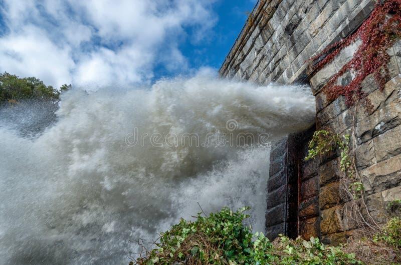 Nieuwe Croton-Dam, croton-op-Hudson, Croton-Kloofpark, NY De V.S. stock afbeelding