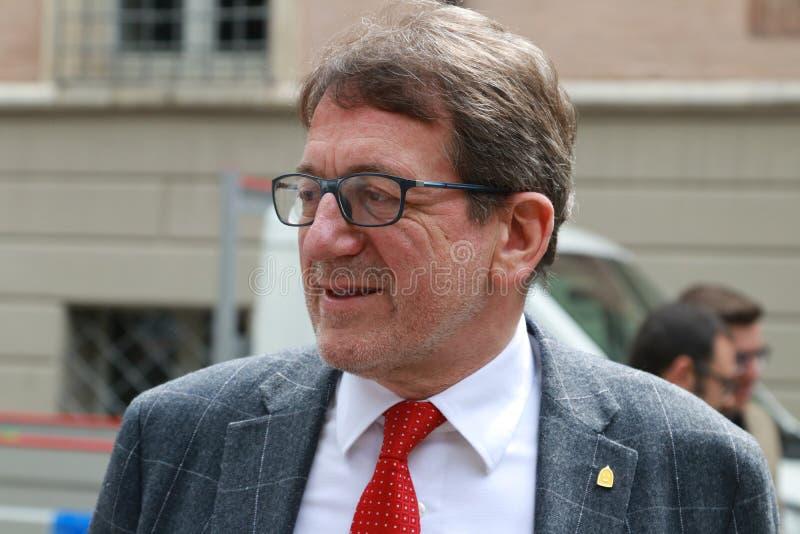 Nieuwe de burgemeesterstad van Giancarlo Muzzarelli van Modena, Italië stock foto's
