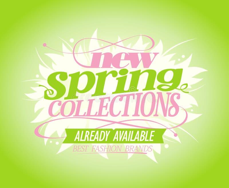 Nieuwe de lenteinzamelingen vector illustratie