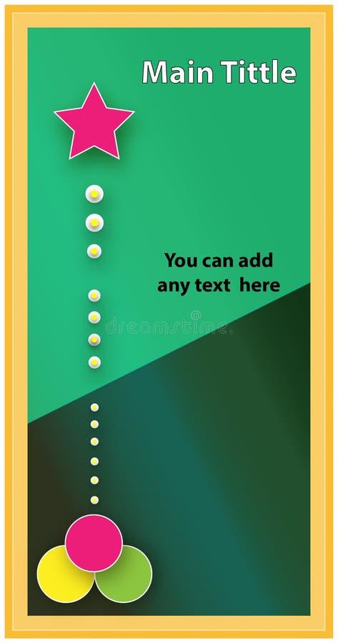 Nieuwe dekking-Boek 2019 groene ontwerpvector stock afbeelding