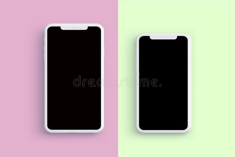 Nieuwe die iPhone op schone achtergrond wordt geïsoleerd royalty-vrije stock afbeeldingen