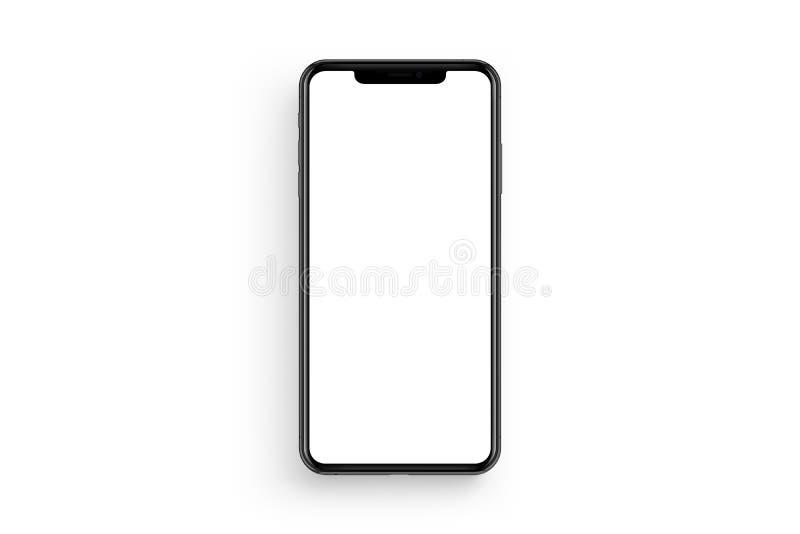 Nieuwe die iPhone op schone achtergrond wordt geïsoleerd stock fotografie