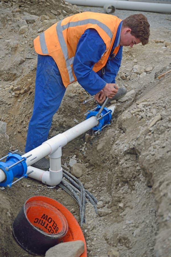 Nieuwe drainage stock foto