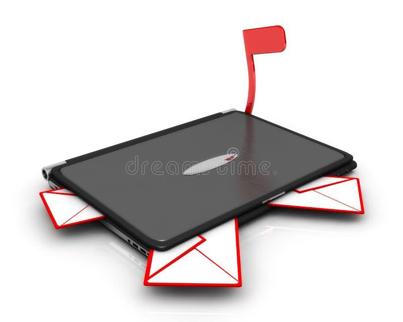 Nieuwe E-mail Inbox royalty-vrije stock afbeelding