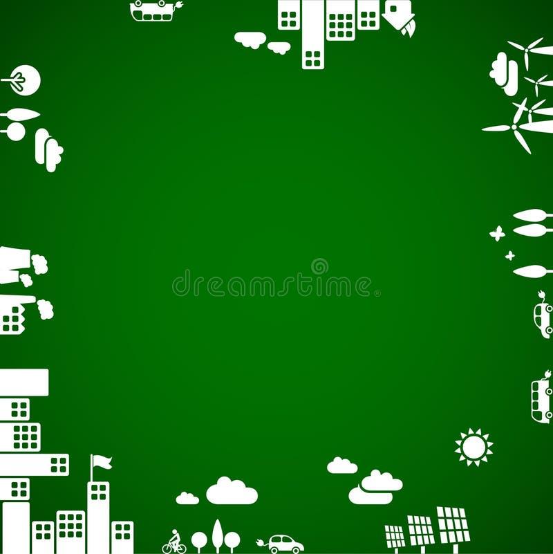 Nieuwe ecologieachtergrond vector illustratie
