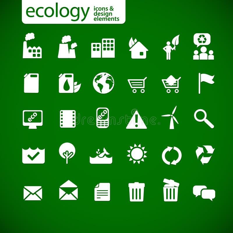 Nieuwe ecologiepictogrammen 2 stock illustratie