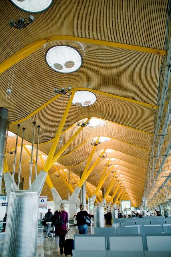 Nieuwe eindT4. Barajas luchthaven, Madrid. royalty-vrije stock afbeelding