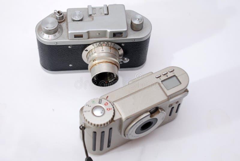 Nieuwe en oude technologie stock afbeelding