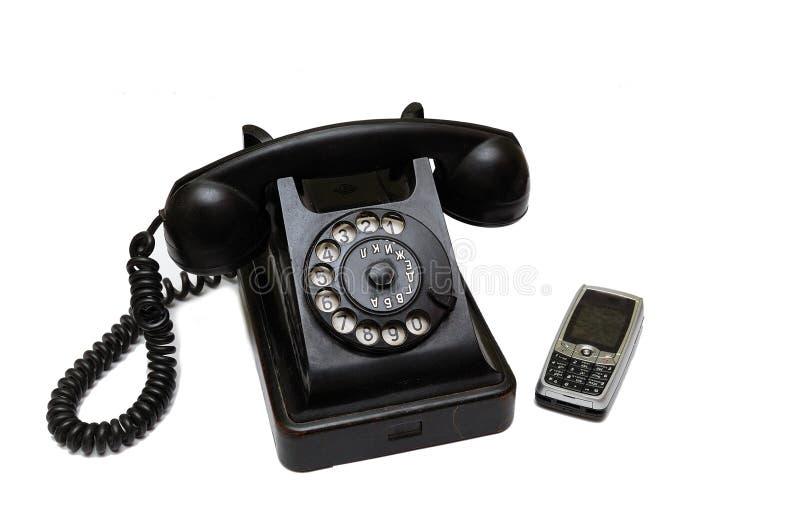 Nieuwe en oude telefoon royalty-vrije stock fotografie