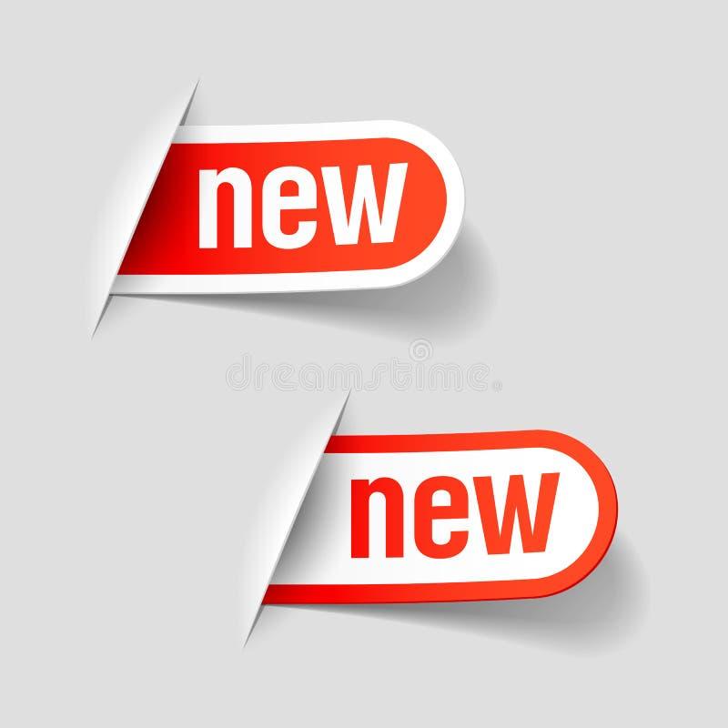 Nieuwe etiketten royalty-vrije illustratie