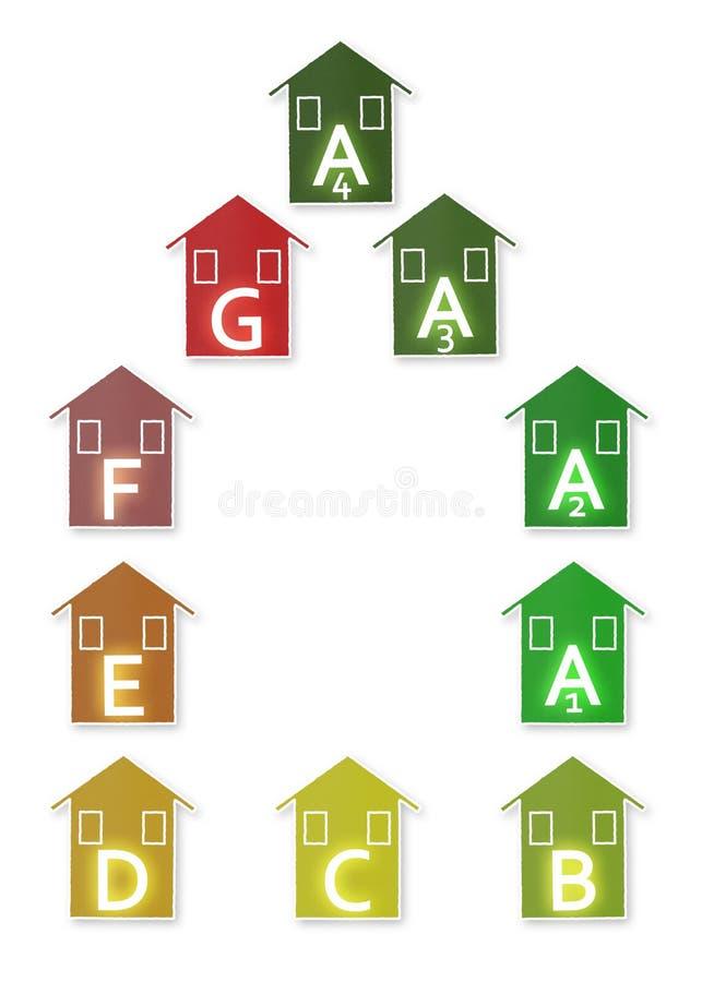 Nieuwe Europese wetten in het betreffen van energierendement - concept imag vector illustratie