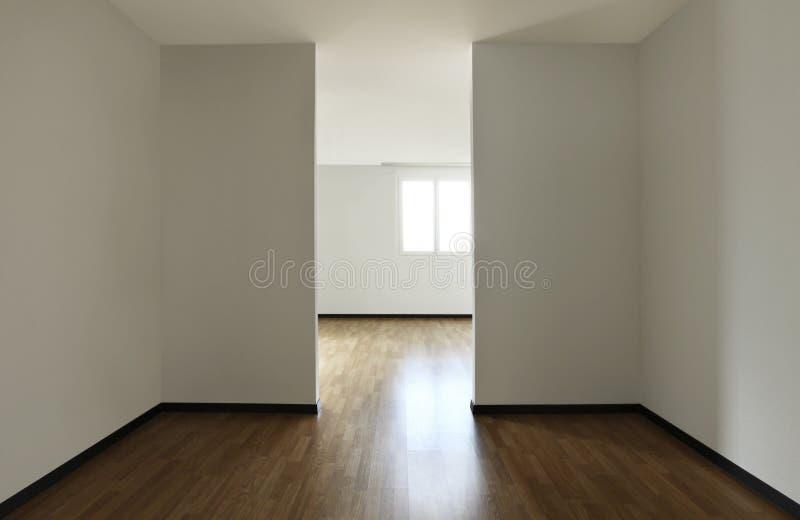 Nieuwe flat, lege ruimte royalty-vrije stock foto's