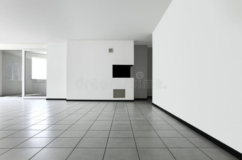 Nieuwe flat, lege ruimte stock foto
