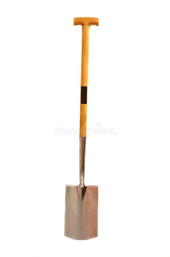 Nieuwe geïsoleerdee spade stock fotografie