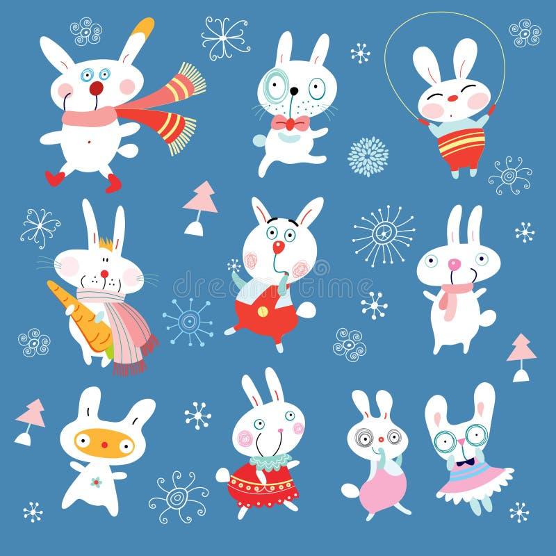 Nieuwe grappige konijnen royalty-vrije illustratie