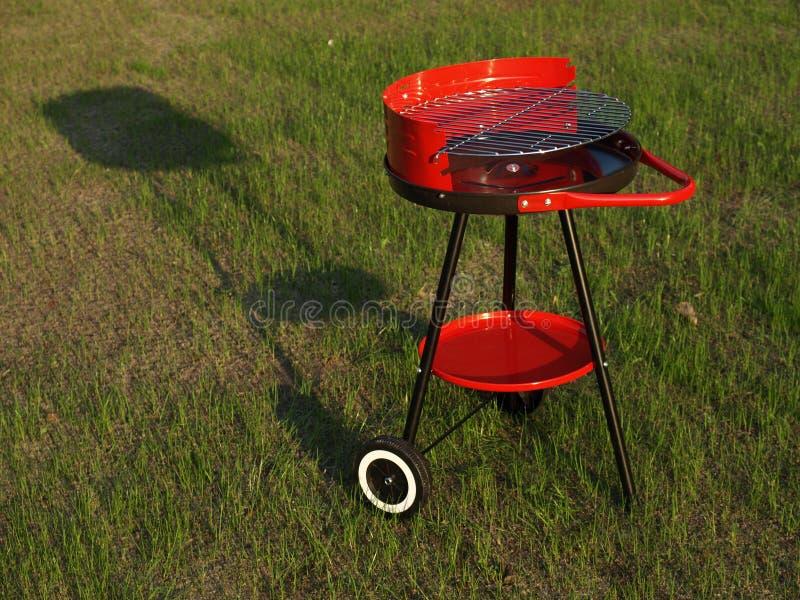 Lege barbecue klaar voor lentetijd royalty-vrije stock foto
