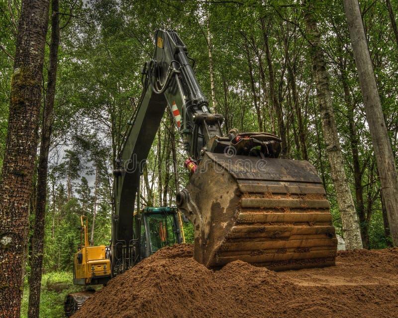 Nieuwe grond voor huistuin in HDR royalty-vrije stock afbeeldingen