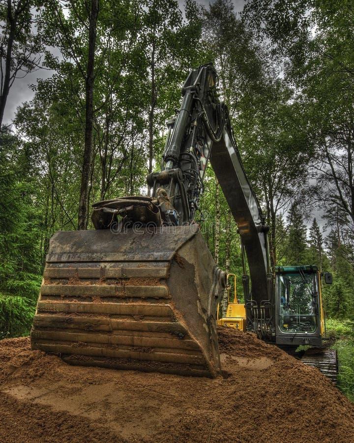 Nieuwe grond voor huistuin in HDR royalty-vrije stock fotografie