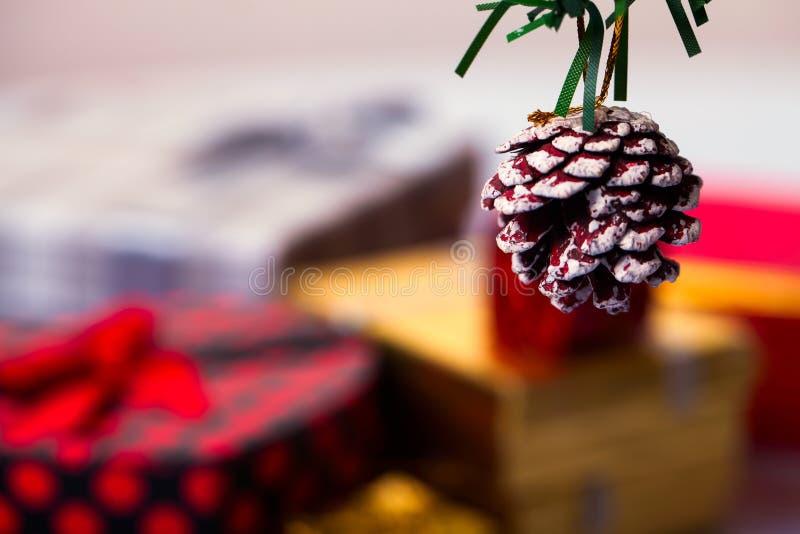 Nieuwe het jaardecoratie van Kerstmis royalty-vrije stock foto