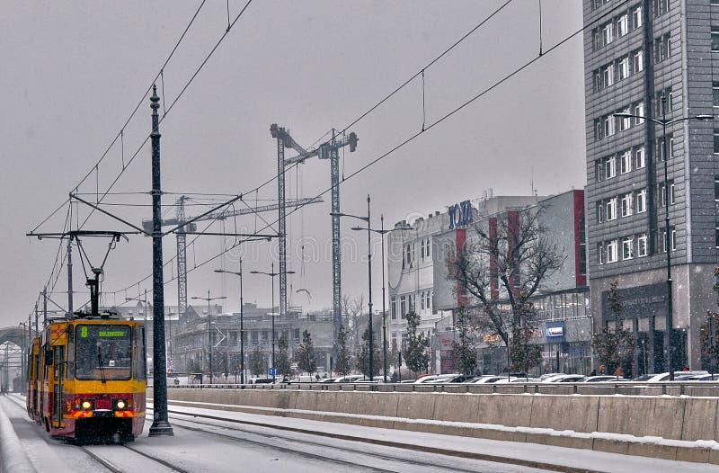 Nieuwe het jaarreis 2018 december van Lodz stock afbeelding